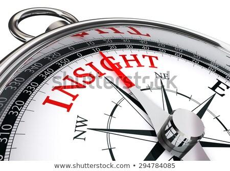 компас белый суждение магнитный иглы указывая Сток-фото © make