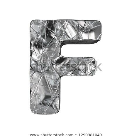 グランジ アルミ フォント 3D 3dのレンダリング ストックフォト © djmilic