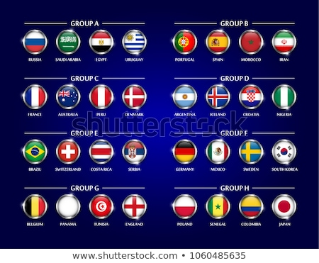 Flag of Russia on metalic frame Stock photo © colematt