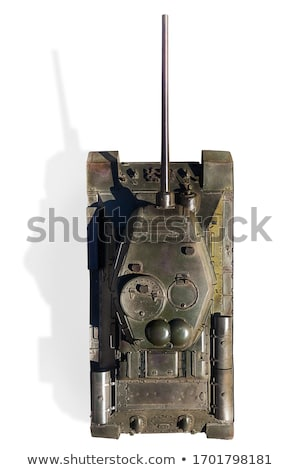 Rood sovjet- strijd tank geïsoleerd witte Stockfoto © 5xinc