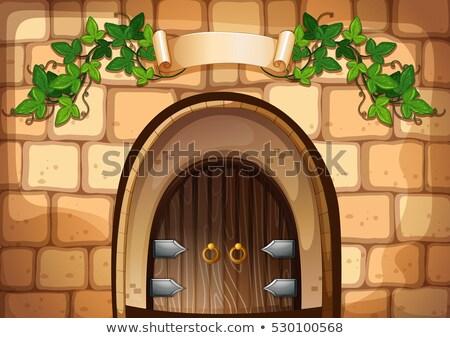 двери винограда стены фон искусства зеленый Сток-фото © colematt