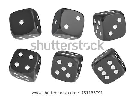 Een zwarte dobbelstenen 3D illustratie Stockfoto © djmilic