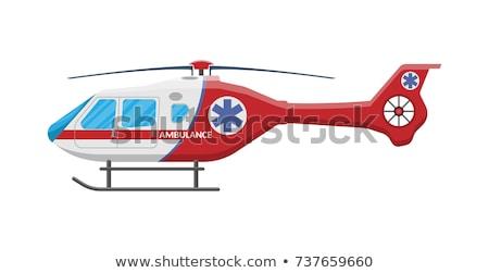 Ambulância helicóptero vetor ilustração isolado branco Foto stock © konturvid
