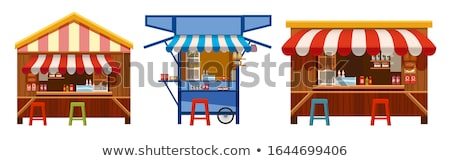 рынке · продовольствие · палатки · город · ресторан · Председатель - Сток-фото © konturvid