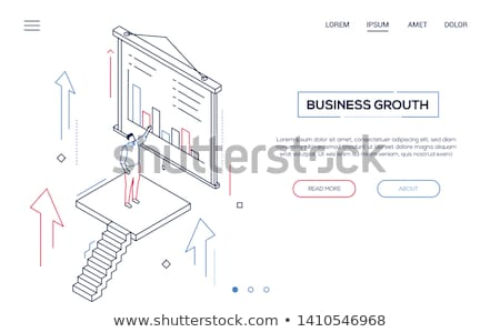 business conference   line design style isometric web banner stock photo © decorwithme