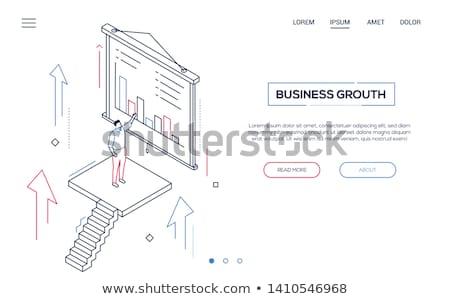 carreira · crescimento · moderno · linha · projeto · estilo - foto stock © decorwithme