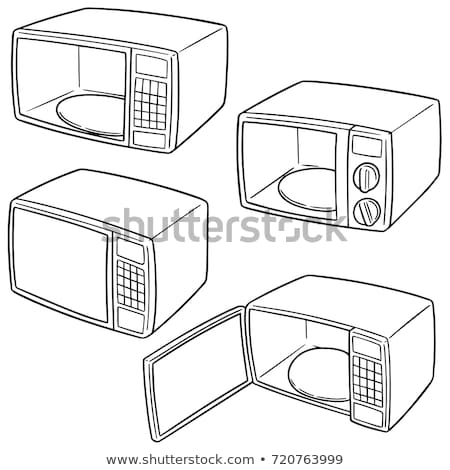 Magnetronoven oven doodle vector cartoon kunst Stockfoto © vector1st