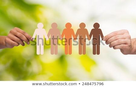 Różnorodny ludzi eco społeczności charakter pomoc Zdjęcia stock © cienpies