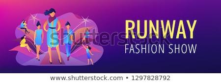 Mode week banner display collectie Stockfoto © RAStudio