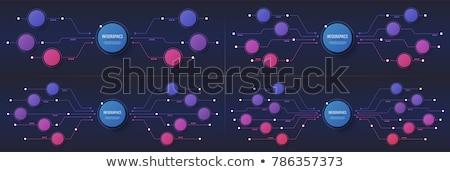 デジタル グローバル 技術 バナー 回路 図 ストックフォト © SArts