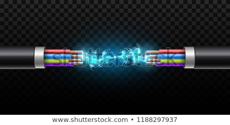 Electrical Cable Cut Stock photo © albund