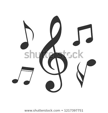 наушников музыки отмечает белый иллюстрация музыку искусства Сток-фото © colematt