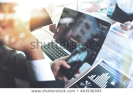 Foto stock: Business meeting and work task, Report Discussion