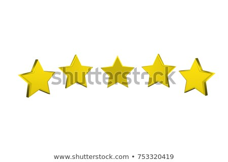 Voting concept rating FIVE golden stars 3D Stock photo © djmilic