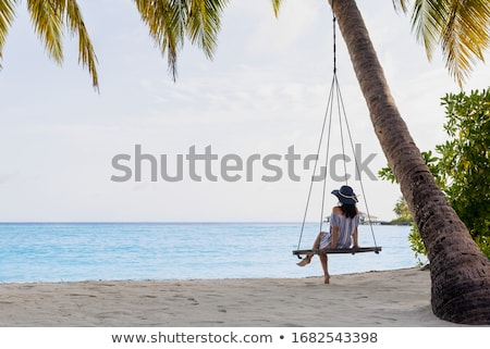 Foto stock: Relajarse · Maldivas · hermosa · blanco · playa · solitario