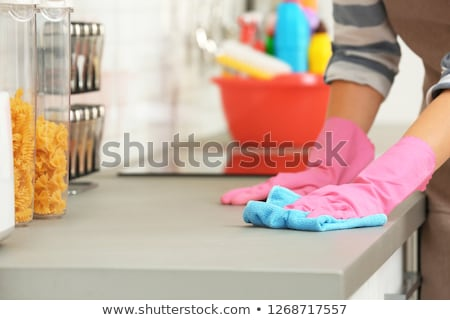 Cleaning Supplies On The Kitchen Countertop Stock photo © AndreyPopov