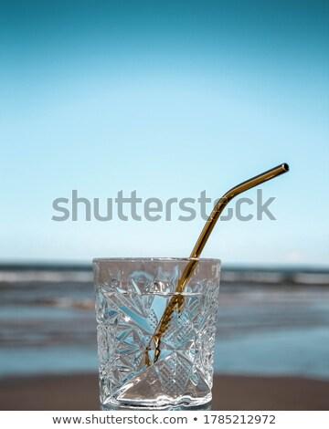 Szkła wody metal przezroczysty kuchnia tle Zdjęcia stock © AndreyPopov
