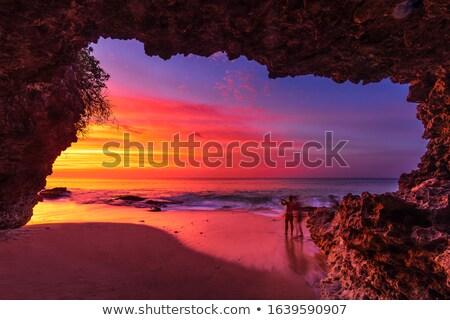 cave views to ocean sunrise stock photo © lovleah