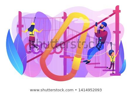 Summer ropes course concept vector illustration. Stock photo © RAStudio