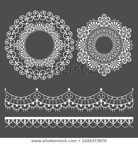 Mandala koronki wektora wzór poziomy długo Zdjęcia stock © RedKoala