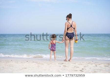 ビーチ · シーン · 人 · 徒歩 · 砂 - ストックフォト © andreypopov