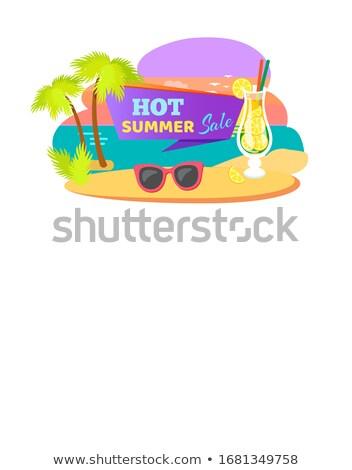 ホット 夏 販売 夏場 ステッカー カクテル ストックフォト © robuart