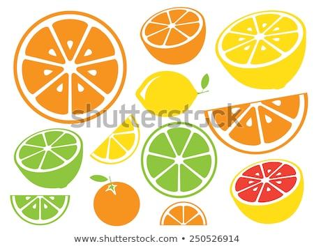 Koktajl kawałek cytryny pomarańczowy cytrus słomy Zdjęcia stock © robuart