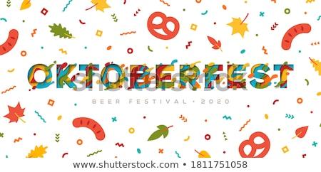 Birra banner minuscolo uomini d'affari festival Foto d'archivio © RAStudio