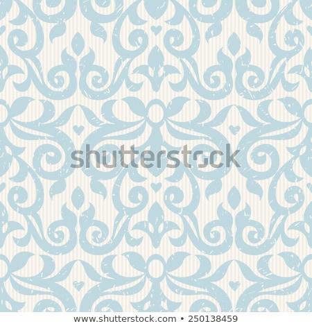 resumen · blanco · floral · mosaico · azulejo · vintage - foto stock © lissantee