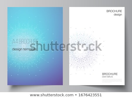 Brochure flyer Business modern design, booklet template, Geometric triangle abstract poster Stock photo © Andrei_