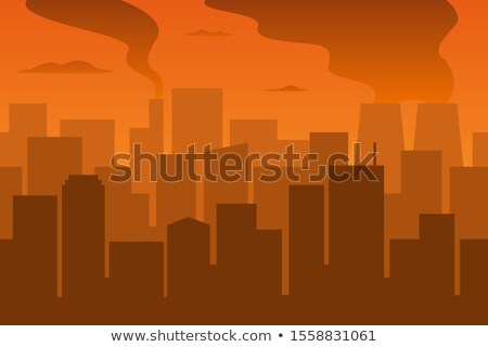 Pollution grand ville illustration nature paysage Photo stock © bluering