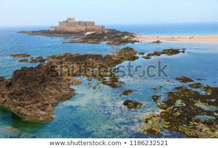 Fort Frankrijk muren strand hemel Stockfoto © borisb17