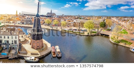 моста Нидерланды реке воды дома город Сток-фото © borisb17