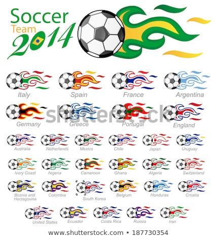 voetbal · vlam · leuk · bal · snelheid · spelen - stockfoto © doomko