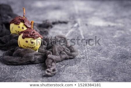 Halloween treat apple in shape of Frankenstein Stock photo © furmanphoto