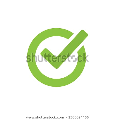 Green circle with checkmark icon vector illustration isolated on white background Stock photo © kyryloff