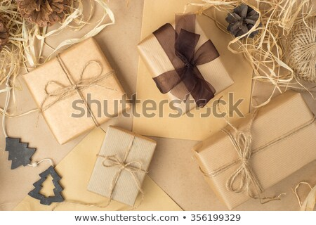 christmas gift boxes and stripped thread stock photo © furmanphoto