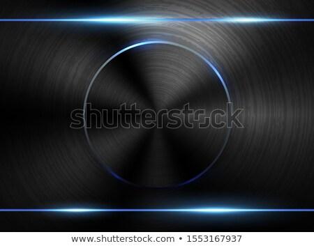 Vector oscuro realista pulido metal Foto stock © Iaroslava