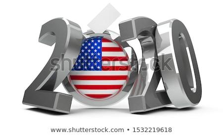 Verkiezingen witte geïsoleerd 3d illustration partij teken Stockfoto © ISerg