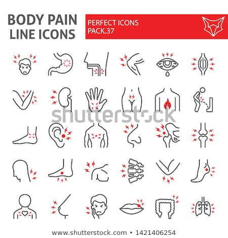 Nose Pain Icon Vector Outline Illustration stock photo © pikepicture