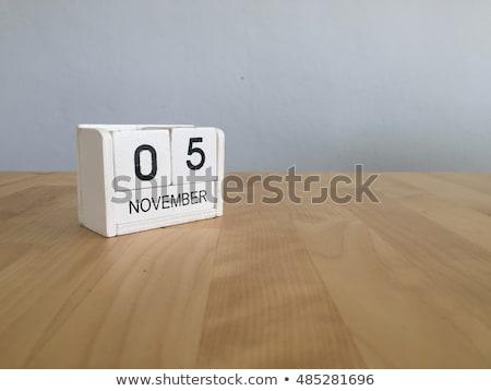 Stock photo: Cubes Calendar 5th November
