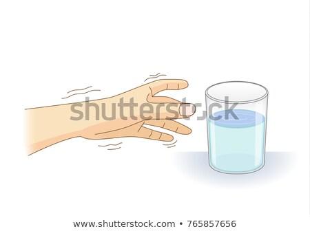 Mãos sintoma ilustração aperto de mãos essencial Foto stock © lenm