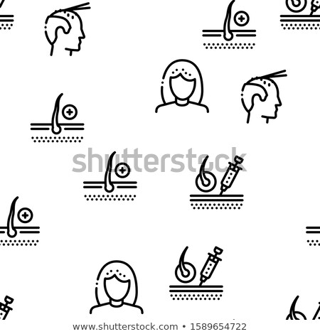 Stock photo: Hair Transplantation Seamless Pattern Vector
