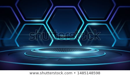 Empty Stage Lighting Futuristic Neon Platform Stock photo © solarseven