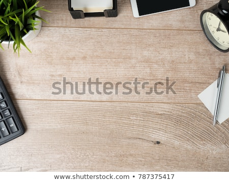 High Angle View Of Alarm Clock On Desk Stock photo © AndreyPopov