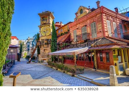 Calle Georgia casas típico casa ciudad Foto stock © borisb17