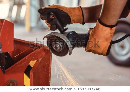 Técnico disco trabalhando fazenda máquina Foto stock © Kzenon