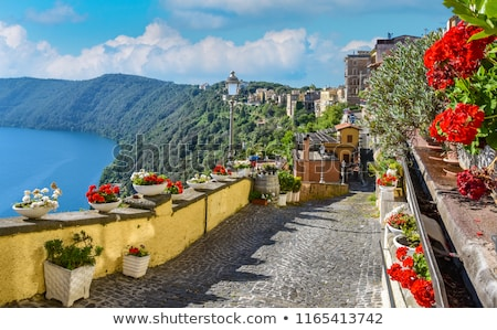 View of Lake Albano from the town of Castel Gandolfo, Italy Stock photo © Zhukow