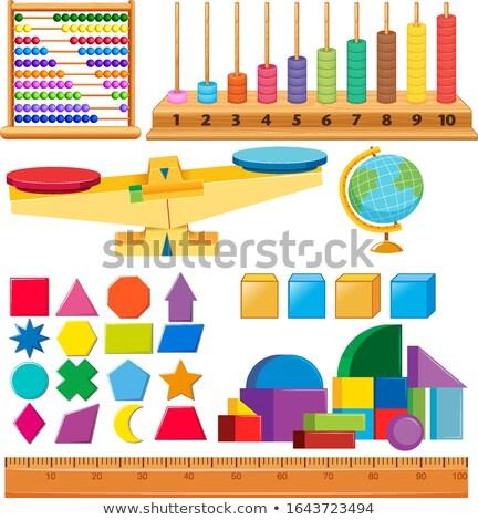 セット 幾何 その他 学校 世界中 ストックフォト © bluering