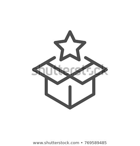 Star bonus vak icon vector schets Stockfoto © pikepicture